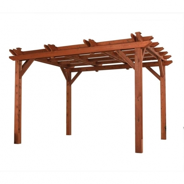 Delightful Pergola Dimensions Height 10 Ft X 12 Ft Wood Pergola Pa1012 The Home Depot