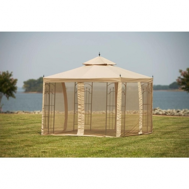 Fantastic 10x10 Gazebo With Netting Hampton Bay Replacement Netting For 10 Ft X 10 Ft Arrow Gazebo