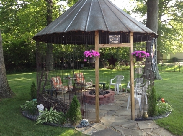 Fantastic Gazebo With Fire Pit Inside Our Sweet Corn Crib Gazebo Complete With Fireplace Things We
