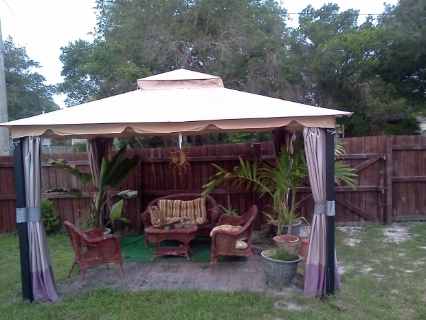 Fantastic Wilson & Fisher Windsor Gazebo With Netting Wilson Fisher 10 X 12 Monterey Gazebo Replacement Canopy Garden