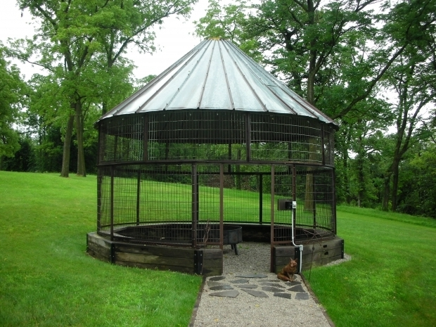 Wire Corn Crib Gazebo