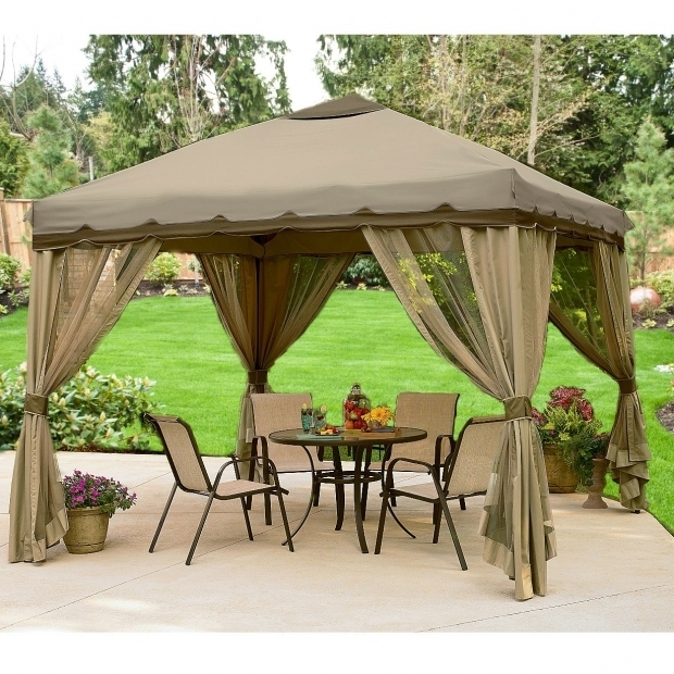 Fascinating 10x10 Gazebo With Netting 10 X 10 Portable Gazebo Replacement Canopy And Netting Garden Winds