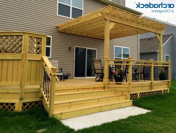 Fascinating Decks With Pergolas 25 Best Ideas About Deck With Pergola On Pinterest Wooden