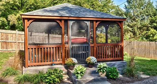 Fascinating Screened In Gazebo Gazebo Ideas Outdoor Screened Gazebo Tent With Build Octagon & Screened In Gazebo - Pergola Gazebo Ideas