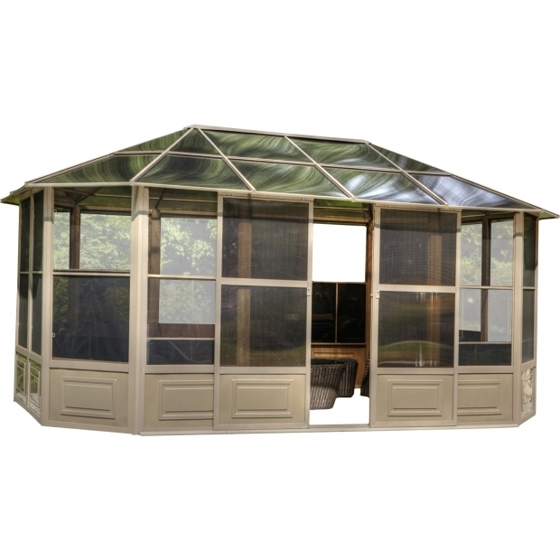 Gorgeous Gazebo Penguin 12 X18 Four Season Solarium Gazebo Penguin Four Season Solarium 12 Ft W X 18 Ft D Metal