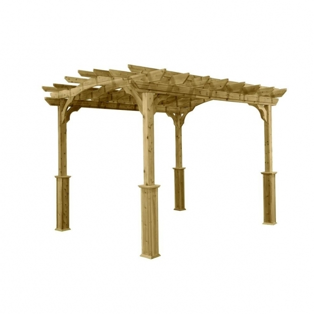 Gorgeous Home Depot Pergolas 10 Ft X 12 Ft Wood Pergola Pa1012 The Home Depot