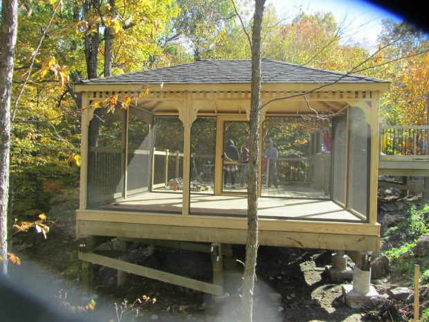 Gorgeous Screened In Gazebo Screened In Gazebo Roselawnlutheran