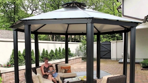 Image of Aluminum Roof Gazebo Monte Carlo Octagonal 14 X 14 Aluminum Roof Gazebo Youtube