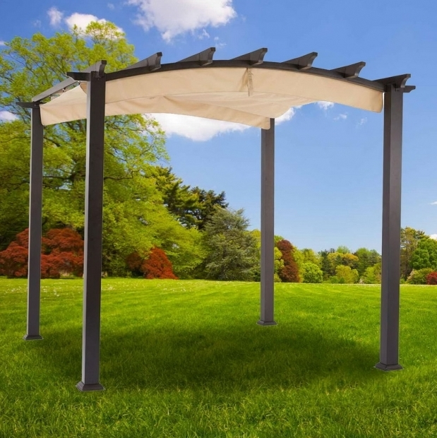 Image of Hampton Bay Pergola With Canopy Hampton Bay Pergola With Canopy Home Design Ideas