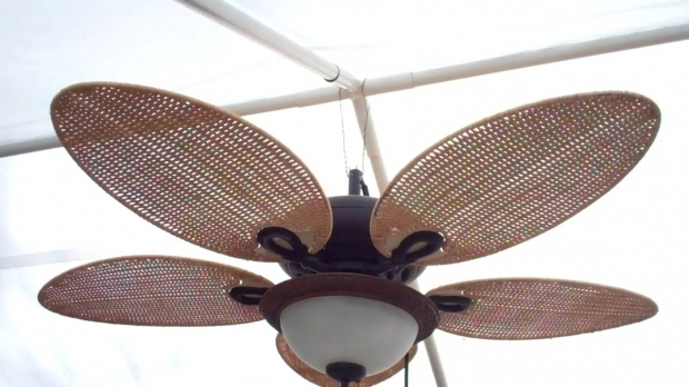 Image of Hanging Gazebo Fan Rigging Up A Gazebo Ceiling Fan Youtube