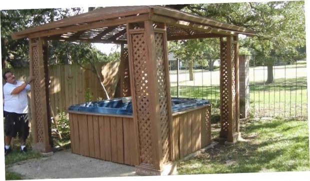 Image of Hot Tub Gazebo Plans Free 30 Fantastic Spa Enclosures Gazebos Hot Tubs Pixelmari