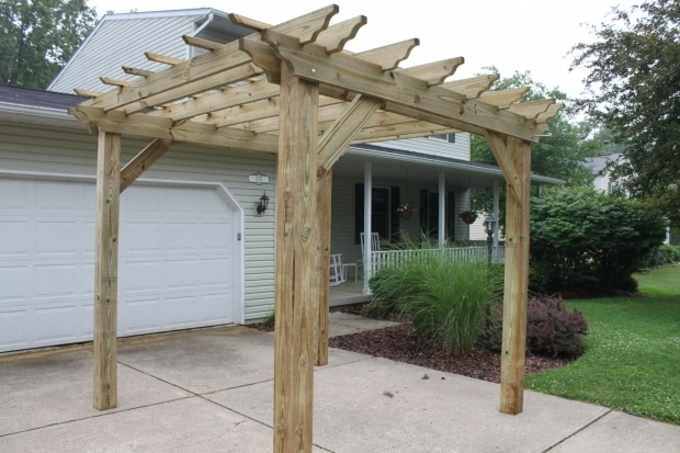 How To Build A Freestanding Pergola On A Deck