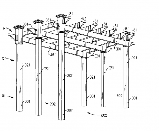 Image of Pergola Dimensions Height Patent Us8061106 Pergola Structure Google Patents