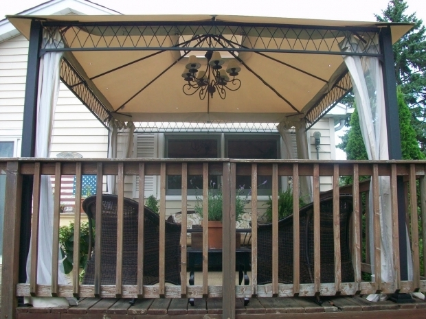 Image of Solar Powered Gazebo Lights Outdoor Gazebo Chandelier Lighting Roselawnlutheran