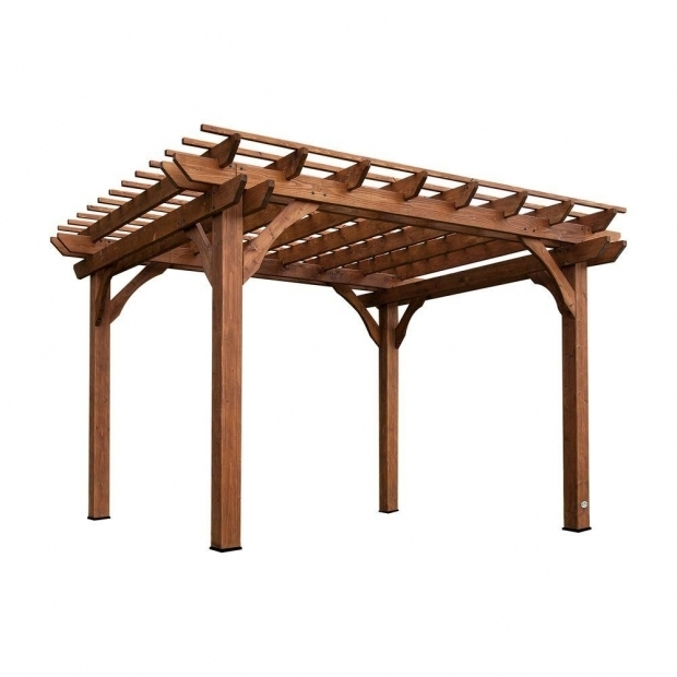 Inspiring Home Depot Pergolas Backyard Discovery 10 Ft X 12 Ft Cedar Pergola 6214com The