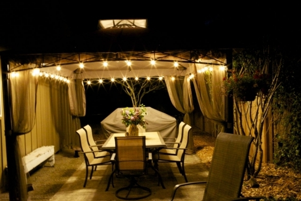 Inspiring Solar Powered Gazebo Lights Outdoor Gazebo Chandelier Lighting Roselawnlutheran