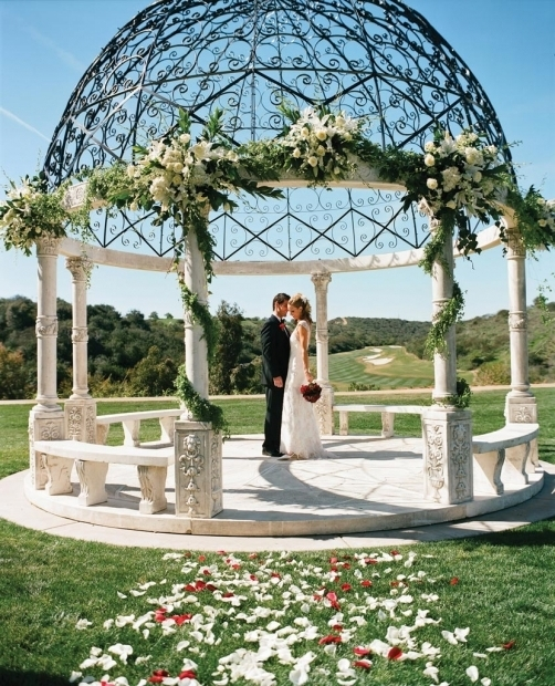 Inspiring Wedding Gazebo Rentals Fairmont Grand Del Mar Wedding Wedding Gazebo And Wrought Iron