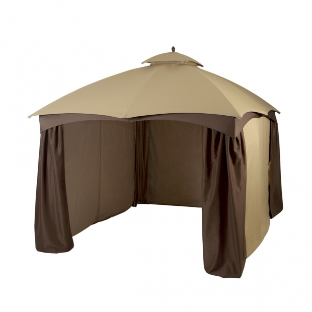 Marvelous Lowes Allen Roth Gazebo Allen Roth Brown Rectangle Screened Gazebo 10 Ft X 12 Ft Gf