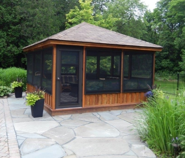 Marvelous Screened In Gazebo Screened Gazebo Kits Decorative Pinteres