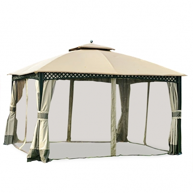 Marvelous Wilson & Fisher Windsor Gazebo With Netting Big Lots Gazebo Replacement Canopy Covers And Netting Sets