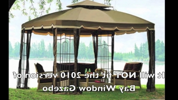 Outstanding Bay Window Gazebo Replacement Canopy For 20082009 Big Lots Bay Window Gazebo Youtube