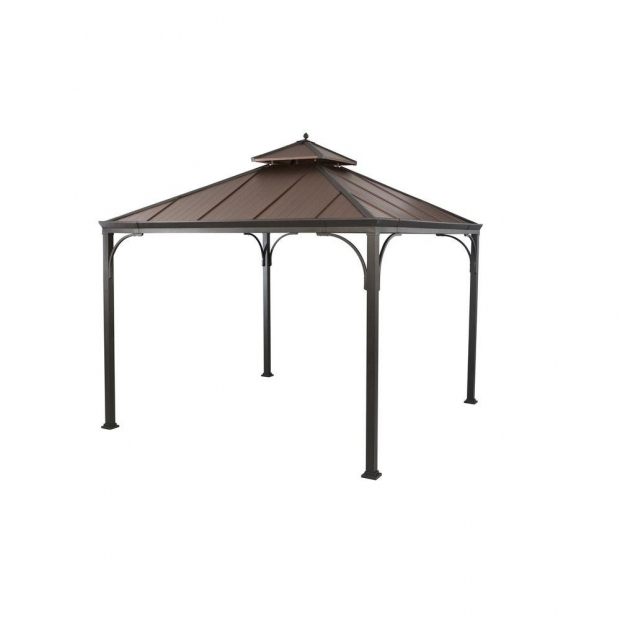 Outstanding Gazebos At Home Depot Hampton Bay Harper 10 Ft X 10 Ft Gazebo L Gz680pst M The Home