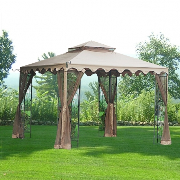 Outstanding Wilson & Fisher Windsor Gazebo With Netting Big Lots Gazebo Replacement Canopy Covers And Netting Sets