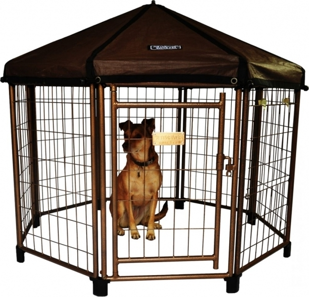 Picture of Advantek Pet Gazebo Modular Outdoor Dog Kennel Advantek Pet Gazebo Modular Outdoor Dog Kennel