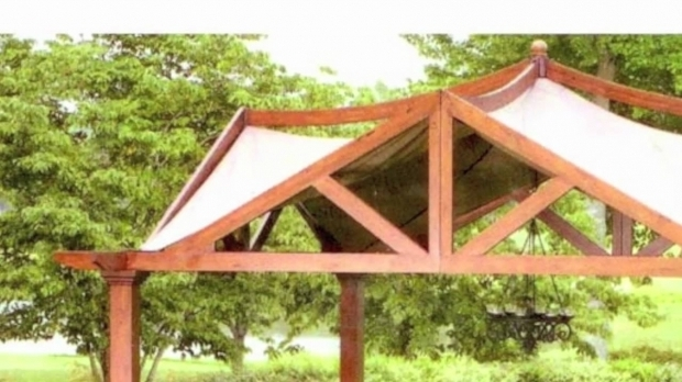 Picture of Garden Treasures Pergola Canopy Replacement Lowes Garden Treasures 10 X 10 Pergola Replacement Canopy Youtube