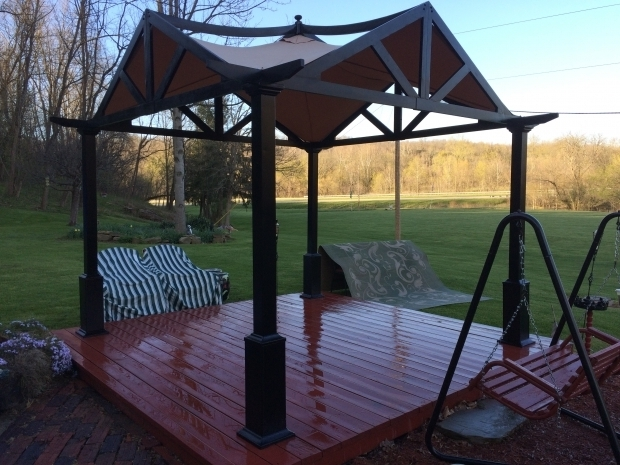 Picture of Garden Treasures Square Pergola Garden Treasures Pergola Gazebo The Gardens