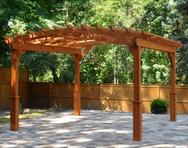 Picture of Pergola Plans Free Standing Red Cedar Free Standing Arched Pergolas Garden Secrets
