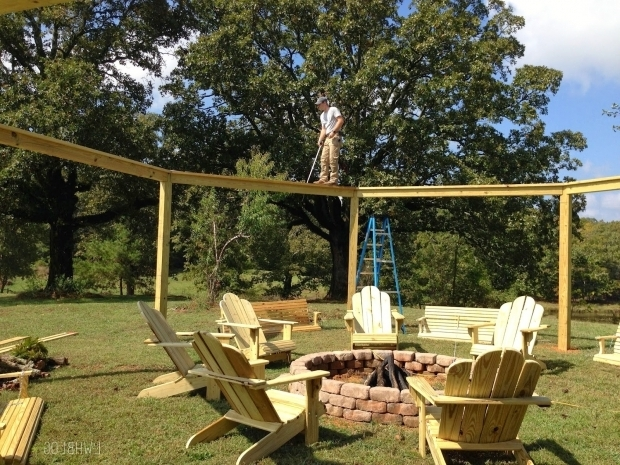 Picture of Pergola With Fire Pit Remodelaholic Tutorial Build An Amazing Diy Pergola And Firepit