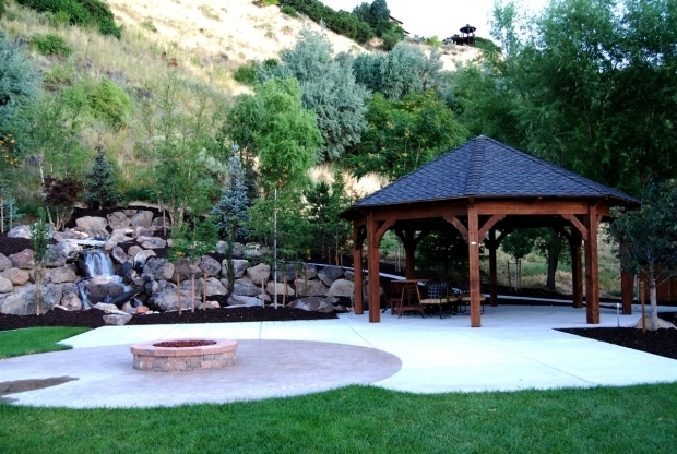 Remarkable Gazebo With Fire Pit Inside Fabulous How To Build A Gazebo With A Fire Pit Garden Landscape
