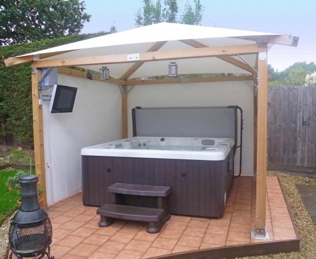 Remarkable Hot Tub Gazebo Plans Diy Hot Tub Gazebo With 4 Posts Spa Pinterest Hot Tub Gazebo 4