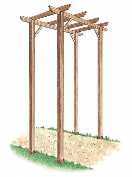 Remarkable How To Build A Freestanding Pergola How To Build A Freestanding Wooden Pergola Kit How Tos Diy
