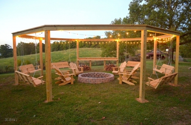 Remarkable Pergola With Swing Remodelaholic Tutorial Build An Amazing Diy Pergola And Firepit