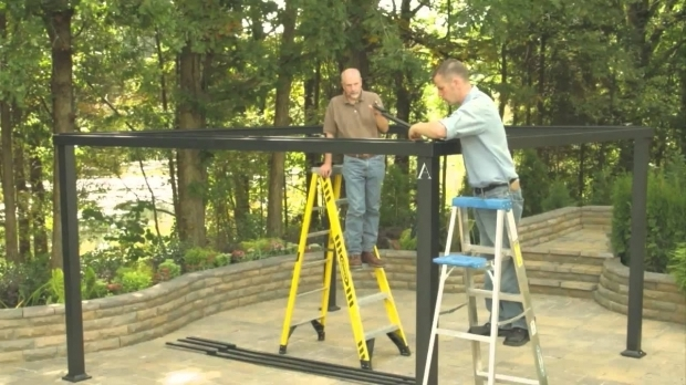 Stunning Allen Roth Black Square Grill Gazebo Lowes Gazebo Installation Video Youtube