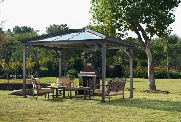 Stylish 10x10 Hardtop Gazebo Lowes Best Hard Top Gazebo Ideas Come Home In Decorations