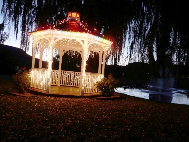 Stylish Gazebo Solar Lights Gazebo Ideas Icicle Solar Outdoor String Lights Water Drop Fairy