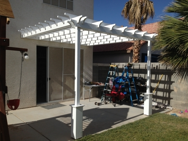 Stylish How To Make A Pergola Attached To House Ana White Pergola Attached Directly To The House Diy Projects