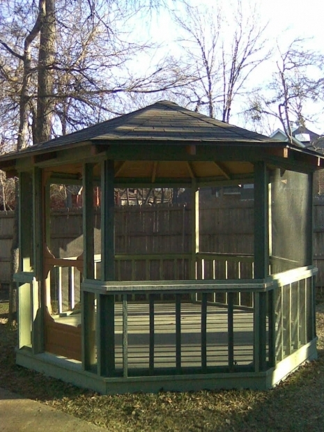 Screened in gazebo pergola gazebo ideas for Gazebo cost to build
