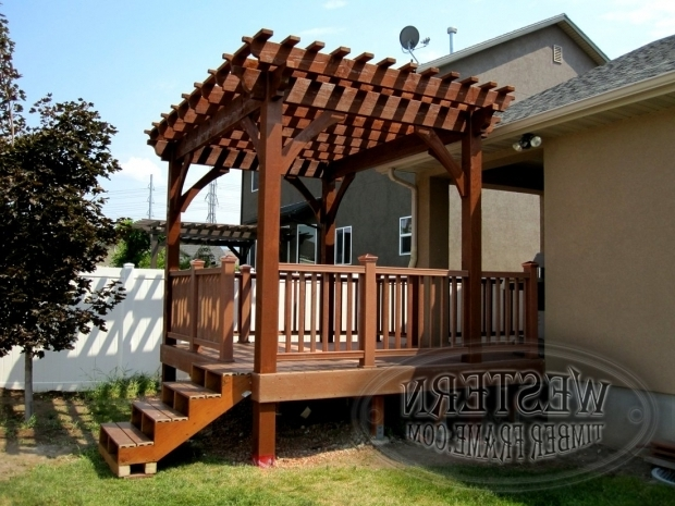 Wonderful How To Build A Freestanding Pergola On A Deck Free Standing Pergola With Rich Sequoia Stain And Champion Profile