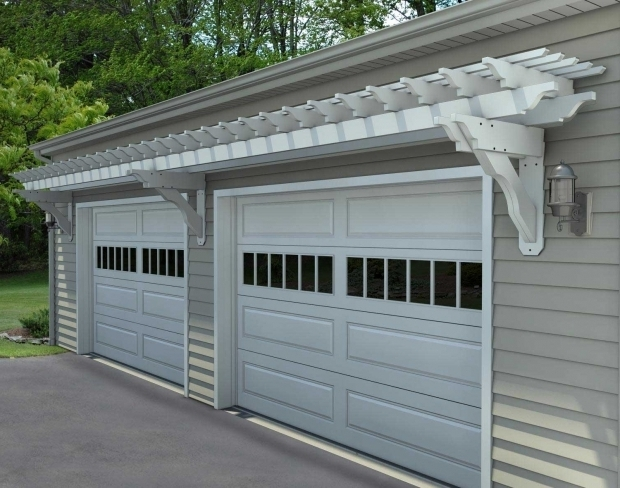 Wonderful Pergola Over Garage Door Kits How To Build An Attached Garage Pergola To Vinyl Siding Google