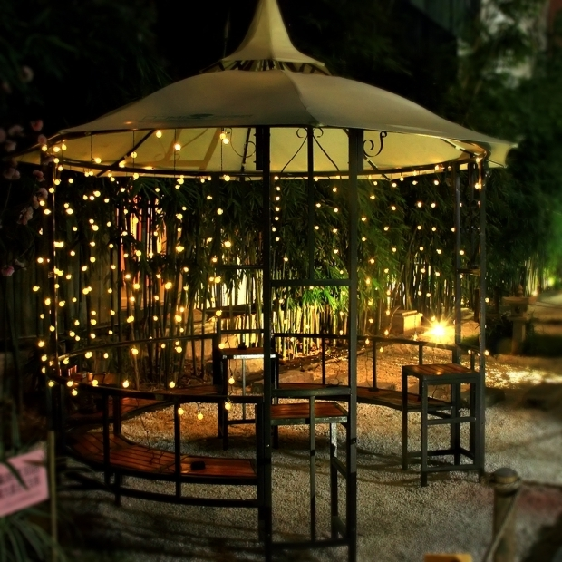 Solar Outdoor String Lights By Innoo Tech: Solar Powered Gazebo Lights