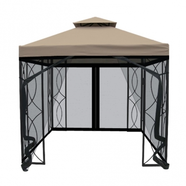 Alluring 8x8 Gazebo With Netting Garden Treasures 8 Ft X 8 Ft Square Gazebo With Insect Net