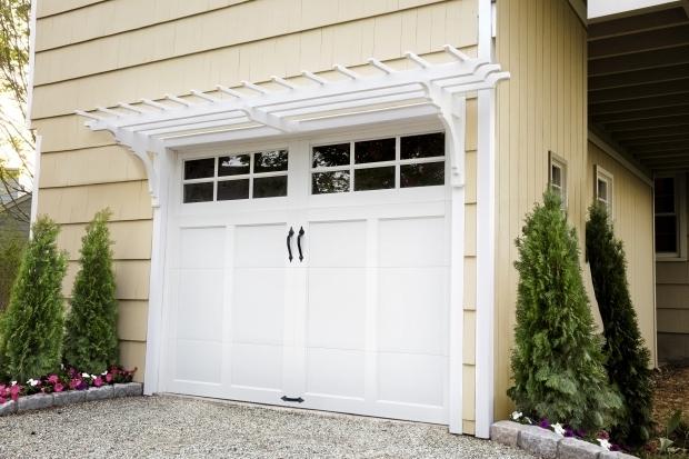 Alluring Garage Door Pergola Garage Door Pergolas Trend Pixelmari
