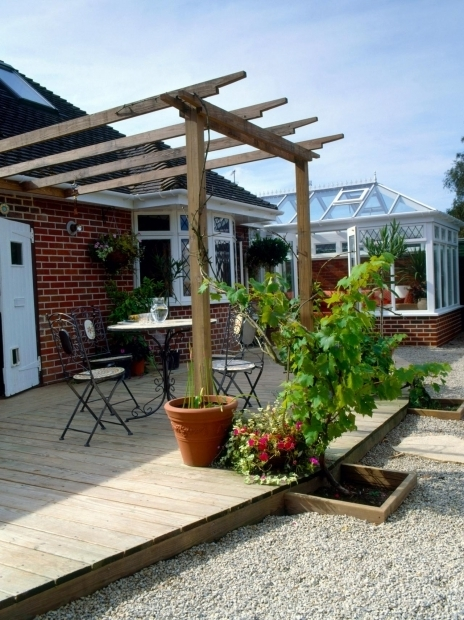 Alluring How To Build A Pergola Off The House How To Build A Wall Leaning Pergola How Tos Diy