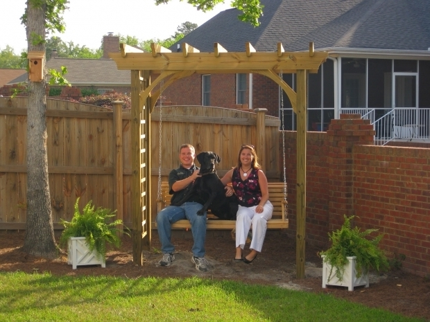 Alluring Pergola Swing Plans Pergola Swing Arbor Plans Pergola Swing Plans Images