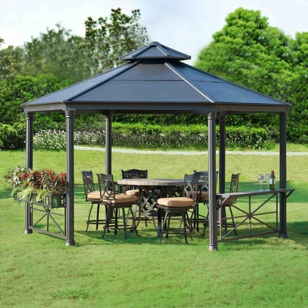 Alluring Sunjoy Aluminum Steel Hardtop Gazebo Gazebo Ideas Hardtop Gazebo Aluminum Metal Canopy With Sunjoy