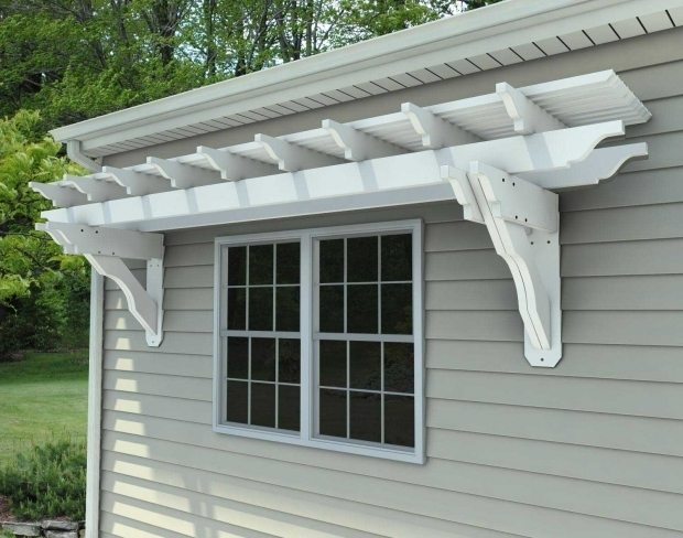 Amazing Attached Vinyl Pergola Kits Eyebrow Pergola Kits Wall Mount Vinyl Eyebrow Breeze Wall Mount